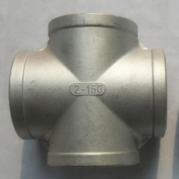 High Pressure SS 304 Threaded End Pipe Fitting Stainless Steel Cross