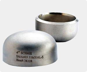 ASTM 12 Inch 316L Stainless Steel Caps
