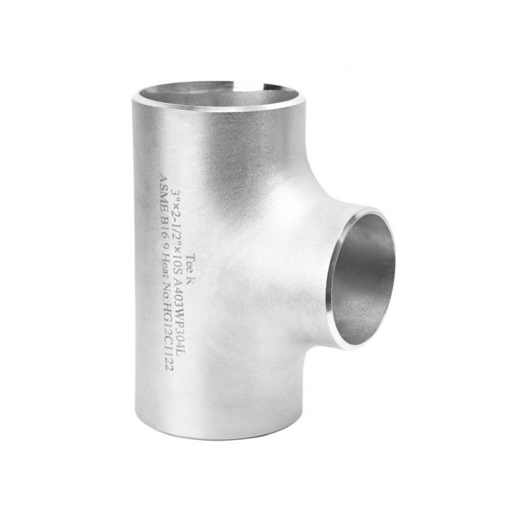 DN15-DN1200 Welded Equal Pipe Fitting Stainless Steel Tee