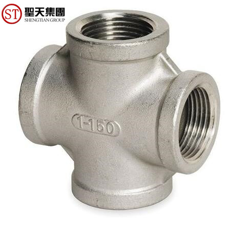 150 PSI 1/2'' NPT Pipe Fitting Stainless Steel Cross